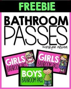 bathroom passes printable