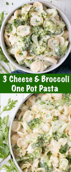 Creamy and cheesy One Pot Broccoli Pasta recipe. A great family-friendly dinner.