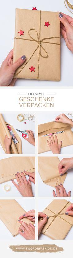 Geschenke verpacken mit hübschem Geschenkband und kleinen Deko-Elementen ist gar nicht so schwierig. Hier ist eine Step-by-Step-Anleitung für euch! Ho Ho Ho! #diy #xmasdiy #giftwrapping #wrapping #wrappingideas #xmasgifts