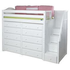 ★ Buy Maxtrix High Loft Beds with Stairs in Twin and Full sizes ★ STAR and ENORMOUS Model loft beds from Maxtrix Kids ★ Wide Selection of Maxtrix childrens loft beds and teen beds at Kids Furniture Warehouse. Kids Beds With Storage, Bed Storage, Storage Spaces, Selling Furniture, Furniture Making, Kids Furniture Warehouse, Mezzanine Bed, Bedroom Nook, Bedroom Ideas