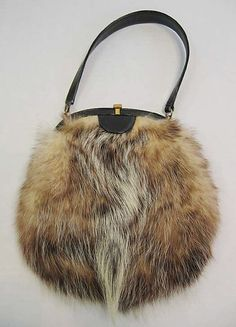 Purse  Morris Moskowitz   Date: 1960s Culture: American Medium: fur, leather, silk, metal
