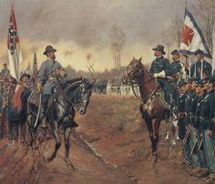 Guerra di secessione: incontro tra l'esercito del Nord e l'esercito del Sud