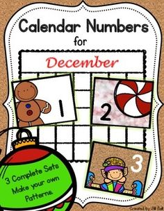 This product contains 3 complete sets of printable calendar numbers appropriate for the month of December. Mix and match to make your own patterns.