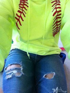 i sooo need to get this #softball #hoodie made <3