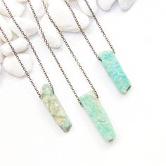 Amazonite Rectangle Necklace