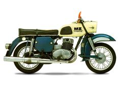 "MZ ES 250/2 Trophy (""TV set"" headlight): timeless East German design!"