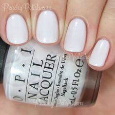 "<3 OPI 2015 Soft Shades Collection - ""Chiffon My Mind"" has silver, pink and blue shimmer in a sheer milky white base. 2 coats."
