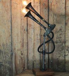 Vintage Car Horn Lamp