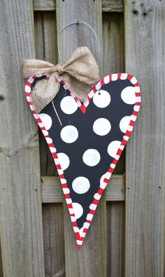 Wooden Heart Door Hanger by SwankySouth on Etsy, $40.00