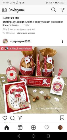 Stampin Up, Cookie Box, Warm Hug, Big Shot, Paper Crafting, Mini, Embellishments, December, Craft Ideas