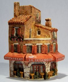 J. CARLTON DOMINIQUE GAULT RESTAURANT GLACIER MINIATURE BUILDING #218268 FRANCE