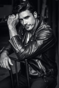 Lucas Gil in a great leather jacket.