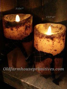 Primitive Luminara Real-Flame Effect Candle
