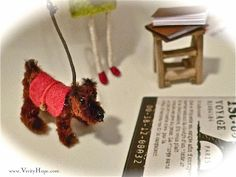 pipe cleaner animals dog www.verityhope.com