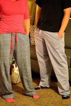 PDF sewing pattern for unisex pajama pants. Regular and low rise, trim option, on-seam pockets, and cut lines for shorts, capris, or pants. Sizes XXS-3XL.