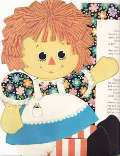 """*RAGGEDY ANN ~ vintage   Jenni...this was the invitation for your 3rd birthday """"Raggedy Ann"""" party, when I made your Ann and Andy dolls....love you, honey..."""