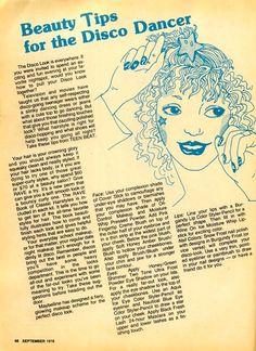 Teen Beat magazine, Sept. 1978 — Beauty Tips for the Disco Dancer
