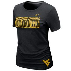 Nike West Virginia Mountaineers Ladies Seasonal Graphic T-Shirt - Black  #FanaticsSummerWishList