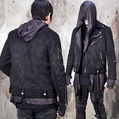 Diagonal zippered embossing bottom suede jacket - 93