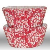 Damask Red Cupcake Liners - $3.75 for 50 count