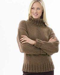 Chunky Knit Turtleneck FREE PATTERN EASY