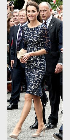 She really dresses like a princess.  Princess Di would have totally approved.