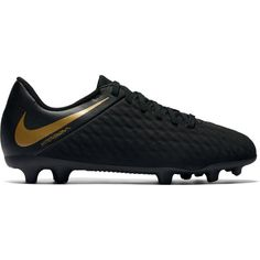 Nike Jr Hypervenom Phantom III Club FG - Kids Football Boots - Black Metallic  Vivid Gold 40a796b13ac3c