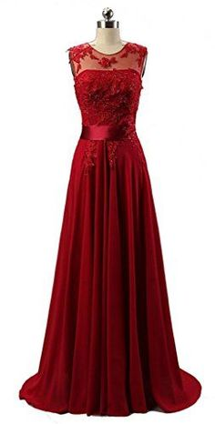 2016 Custom Charming Red Chiffon Prom Dress,Beading Sleeveless Evening Dress