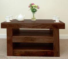 Mantis Dark Solid Mango Wood TV Unit / Coffee Table £189