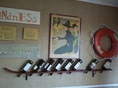 Vintage Ski Wine Rack | Tipski Handmade Antique Ski Wine Rack by tigerlilysn on Etsy, $75.00