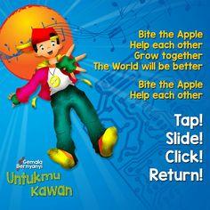 Bite the Apple, help each other, Tap! Slide! Click! Return! #savelaguanak https://kitabisa.com/gemalabernyanyi https://youtu.be/jFx_OXGvpr8