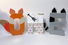 Woodland and friends lettersFox letters8 Inches