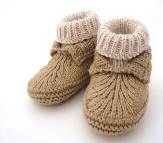 NobleKnits Yarn Shop  - Bekah Knits Moc-a-soc knit booties pattern, $6.95 (http://www.nobleknits.com/products/Bekah-Knits-Moc%2da%2dsoc-knit-booties-pattern.html)