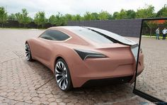 Full-size clay model of the Buick Avista concept sits in the viewing area at GM's Technical Center (June, 2014) – formtrends.com