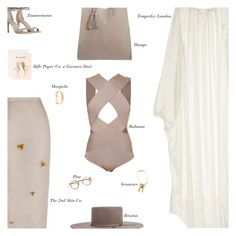 """""""Sunday"""" by amberelb ❤ liked on Polyvore featuring Balmain, The 2nd Skin Co., Temperley London, Areaware, Violeta by Mango and Maison Margiela"""