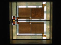 Stained glass in the Unity Temple in Chicago's Oak Park designed by architect Frank Lloyd Wright.