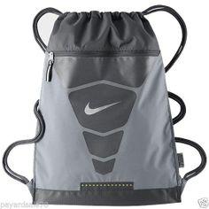 122b99c783 NIKE VAPOR GYM SACK BACK PACK BACKPACK BOOK BAG GYM GRAY   VOLT  Nike