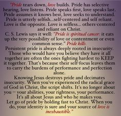 Pride vs love by Ryan and Selena Frederick @FierceMarriage