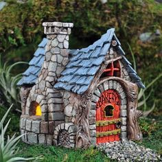 The perfect piece to a fairy garden to complete that cozy small town feel for the fairies. A heavenly smell to fill the town of fresh bread, brownies, and cupcakes, what more could a hungry fairy wish for?
