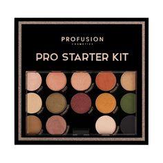 42 PC Pro Starter Kit includes 26 multi-finish eyeshadows, 10 long-lasting lip colors, 2 blendable blush shades, 2 radiant highlighters, 1 universal bronzer and 1 contour shade. Glow Palette, Eye Palette, Makeup Palette, Contour Kit, Contour Makeup, Makeup Set, Makeup Artist Kit, Cosmetic Shop, Vegan Makeup