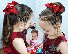 Dance Hairstyles, Work Hairstyles, Kids Braided Hairstyles, Hairstyle Look, Girl Hair Dos, Baby Girl Hair, Braids For Kids, Toddler Hair, French Braid