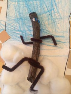 Simple toddler craft for the book Stick Man by Julia Donaldson and Axel Scheffler