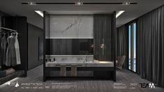 İstanbul Tuzla Viaport Marina Otel projemiz için hazırlanan suit oda banyo ve giyinme odası konsept tasarım. Istanbul Tuzla Viaport Marina Hotel concept design of suit room's bathroom and dressing room.