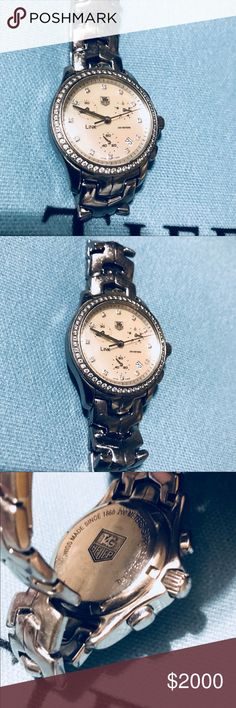 TAG HEUER LINK MOTHER OF PEARL DIAMOND BEZEL Pre owned Tag Heuer Jewelry