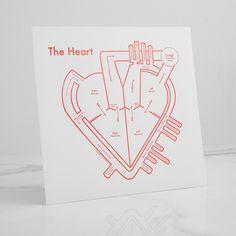 Heart Letterpress Print