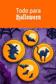 Ideas, recetas, utensilios e ingredientes para cocinar postres o bocadillos para una fiesta de halloween o un altar de día de muertos.