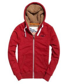46eed03289db3 Mens - Orange Label Heavy Winter Zip Hoodie in Rustic Red Grit