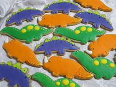 Dinosaurs  //   Decorated Sugar Cookie Collection by MartaIngros, $18.00