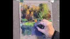 Pastel Landscape with Teaching Comments (workshops, classes) - YouTube