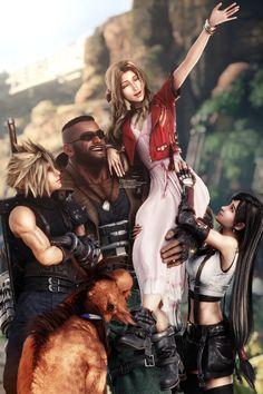 Final Fantasy Artwork, Final Fantasy Vii Remake, Fantasy Series, Rat Dog, Final Fantasy Collection, Vincent Valentine, Comic Styles, Cloud Strife, Fantasy Girl